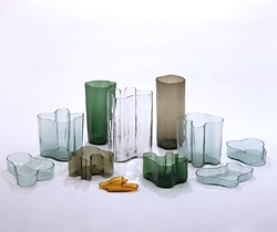 vases designed for the Karhula-Iittala Glass Design Competition by Alvar Aalto