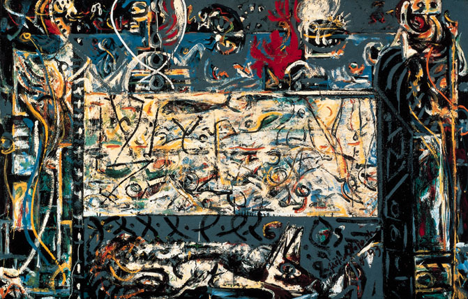 Interactives exhibitions 1998 jackson for Mural 1943 by jackson pollock