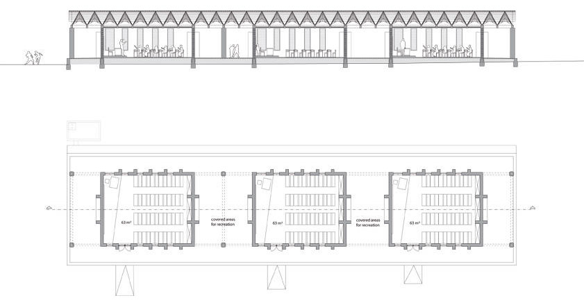 Primary School Plan Elevation : Moma small scale big change primary school