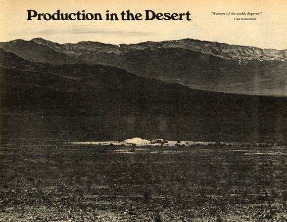 Production in the Desert