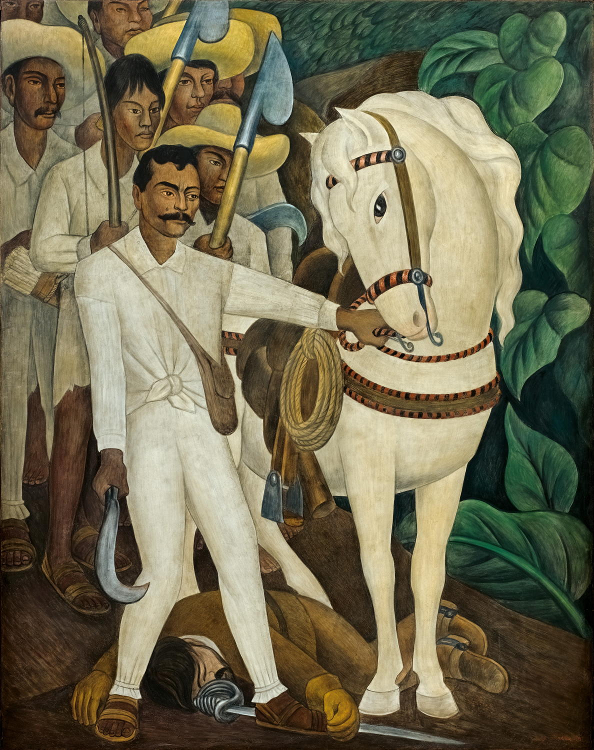 Agrarian leader zapata murals for the museum of modern art for Diego rivera mural
