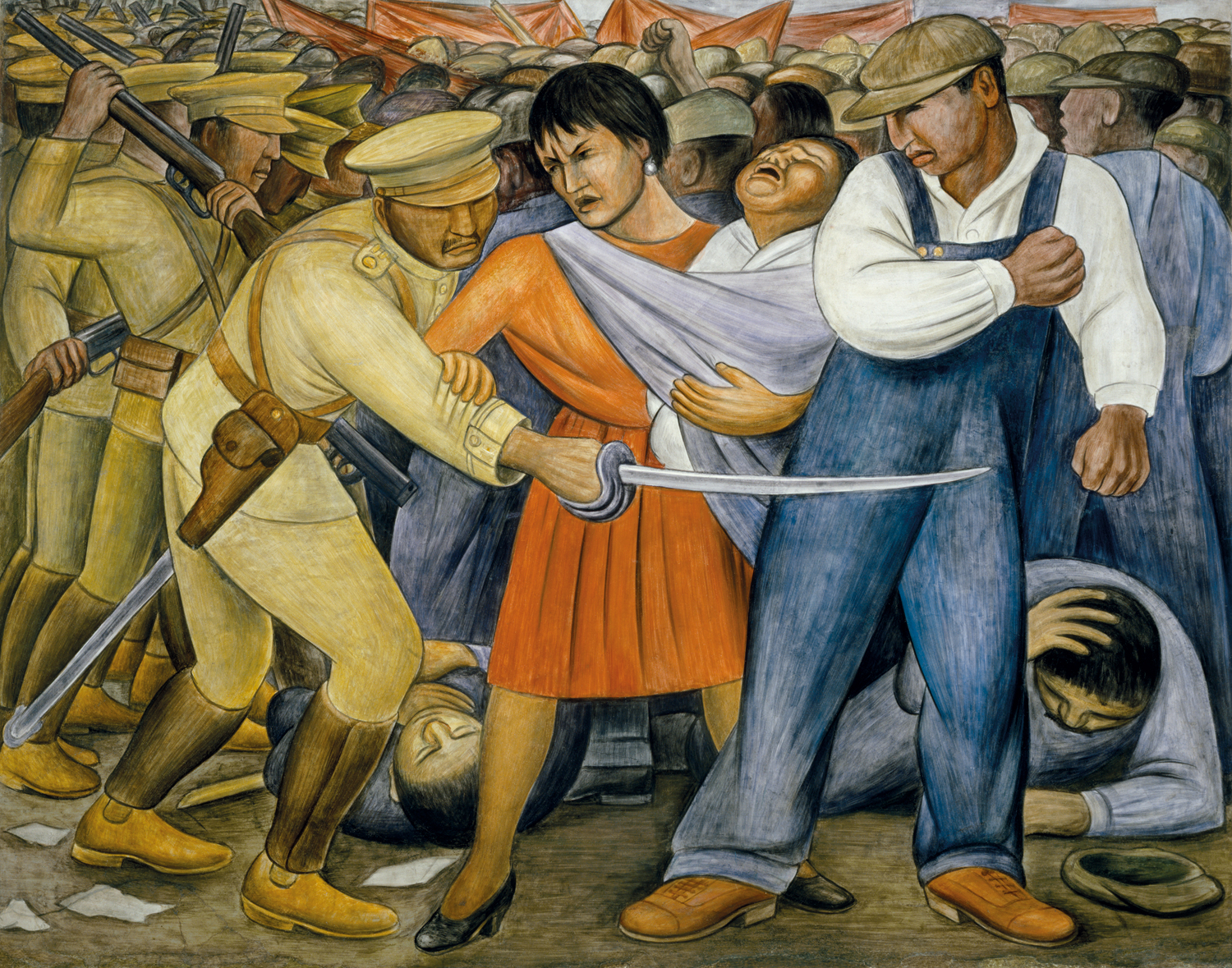 The uprising murals for the museum of modern art for Diego rivera first mural