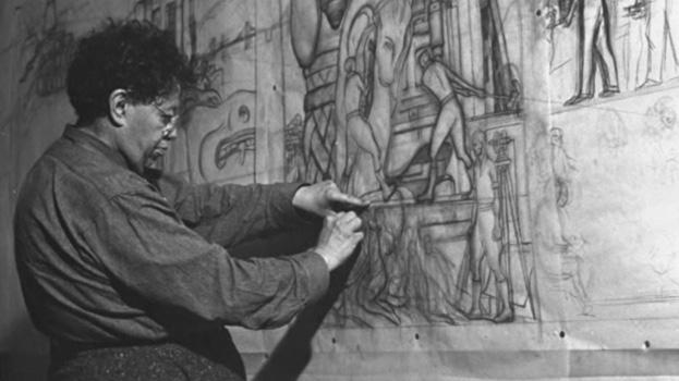 T cnica y materiales diego rivera murales para el museo for Como pintar un mural exterior