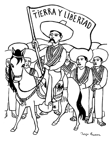 la posada coloring pages | The Era Of Mexican Revolution Coloring Page By Posada ...