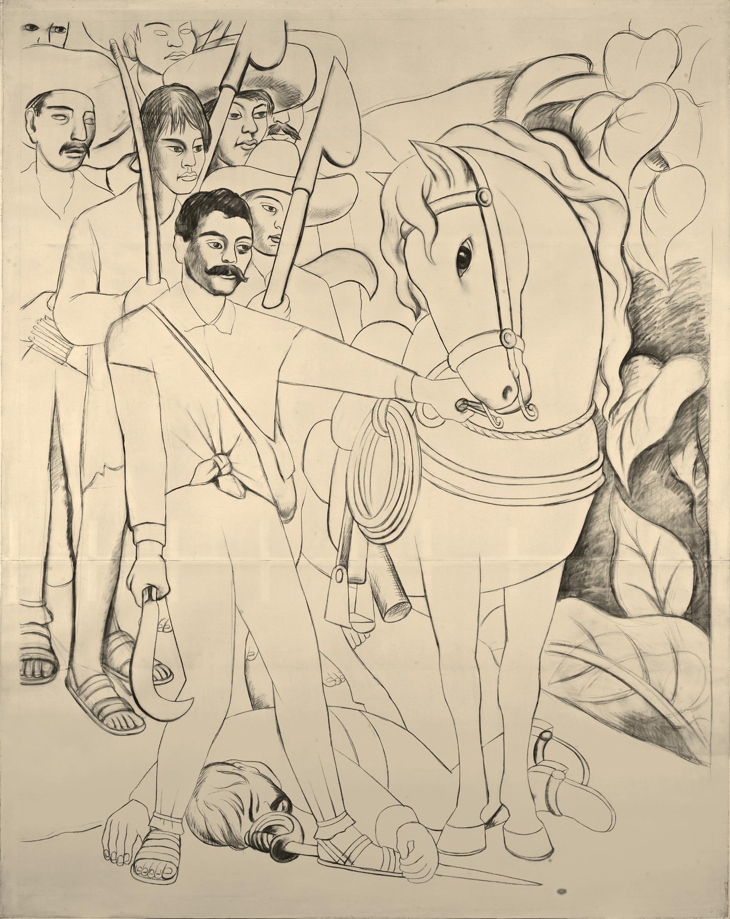 Zapata líder agrario   Diego Rivera: Murales para El Museo de Arte ...