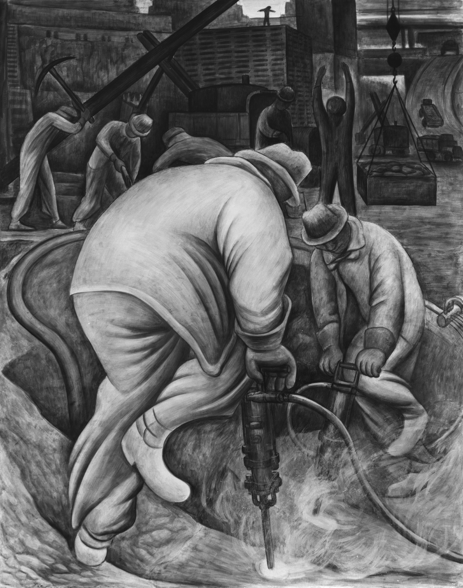 Taladro neum tico diego rivera murales para el museo de for Un mural de diego rivera