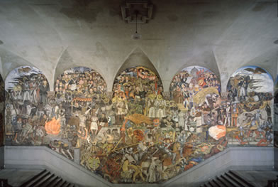 Chronology murals for the museum of modern art for Diego rivera mural 1929