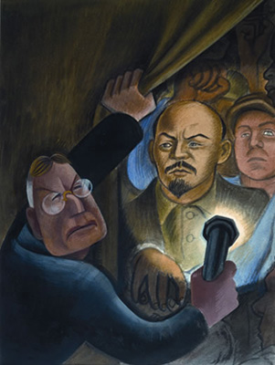 Chronology murals for the museum of modern art for Diego rivera lenin mural