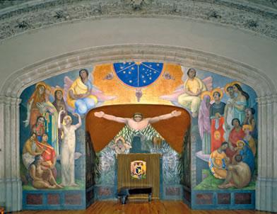 Chronology murals for the museum of modern art for Mural prepa 1 uaemex