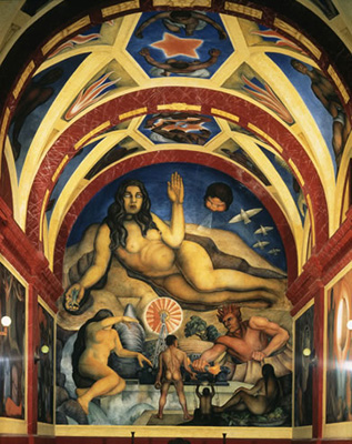 Chronology murals for the museum of modern art for Diego rivera first mural