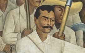 Moma diego rivera mobile agrarian leader zapata for Emiliano zapata mural