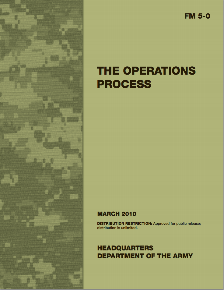 army field manual 5 0 the operations process u s military rh moma org us army field manual 6-22 field manual us army intelligence analysis