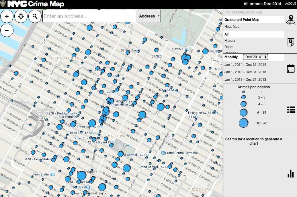 Doitt Nyc Map.New York City Crime Map New York City Department Of Information