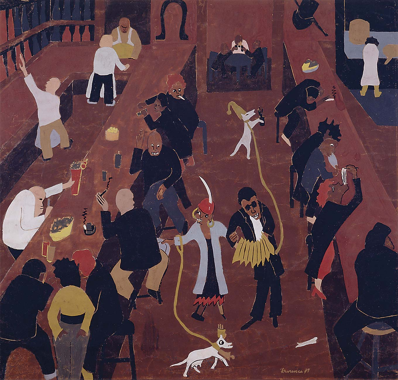 jacob lawrence bar and grill Jacob lawrence (september 7, 1917 – june 9, 2000) was an african-american painter known for his portrayal of african-american life as well as a painter, storyteller, and interpreter, he was an educator.