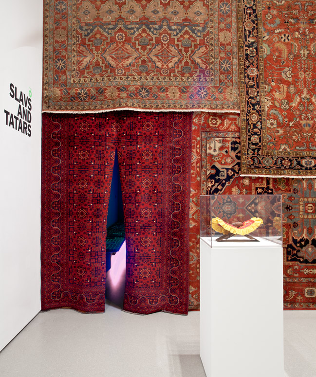 Installation view of Projects 98: Slavs and Tatars