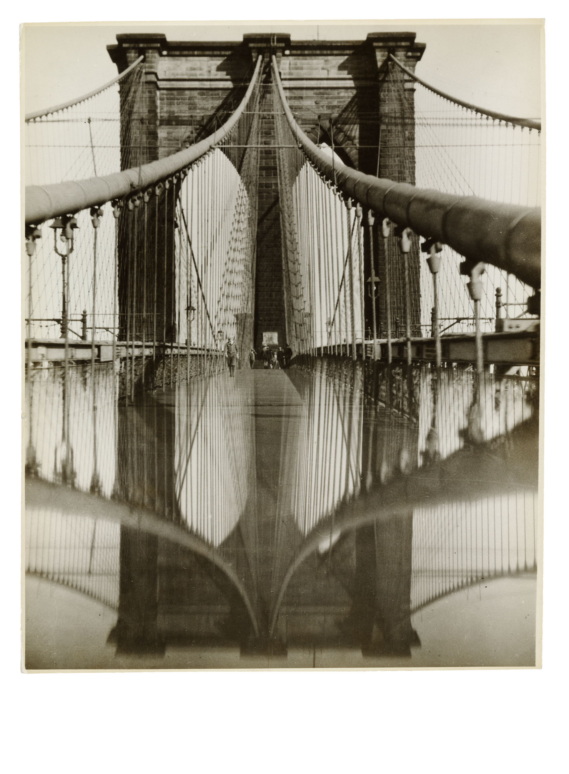 Brooklyn Bridge in Rainy Weather | Object:Photo | MoMA
