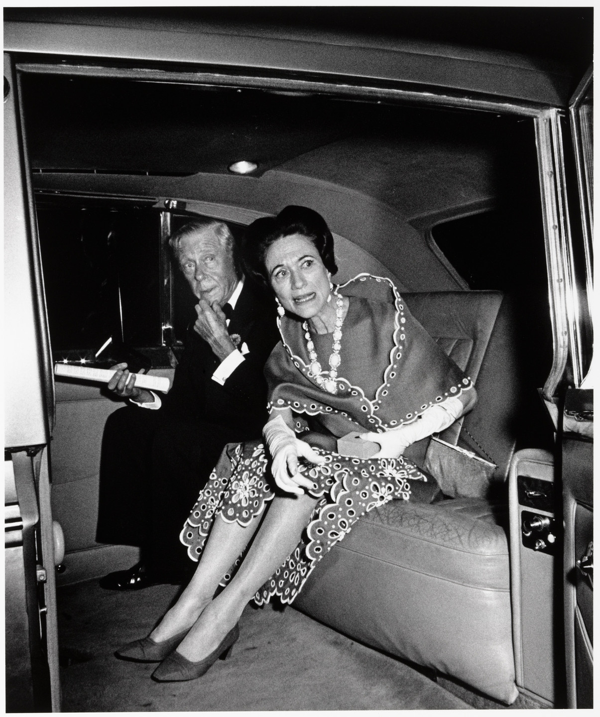 Ron Galella. The Duke and Duchess of Windsor at the Opening of Wildenstein Gallery, New York. May 21, 1968
