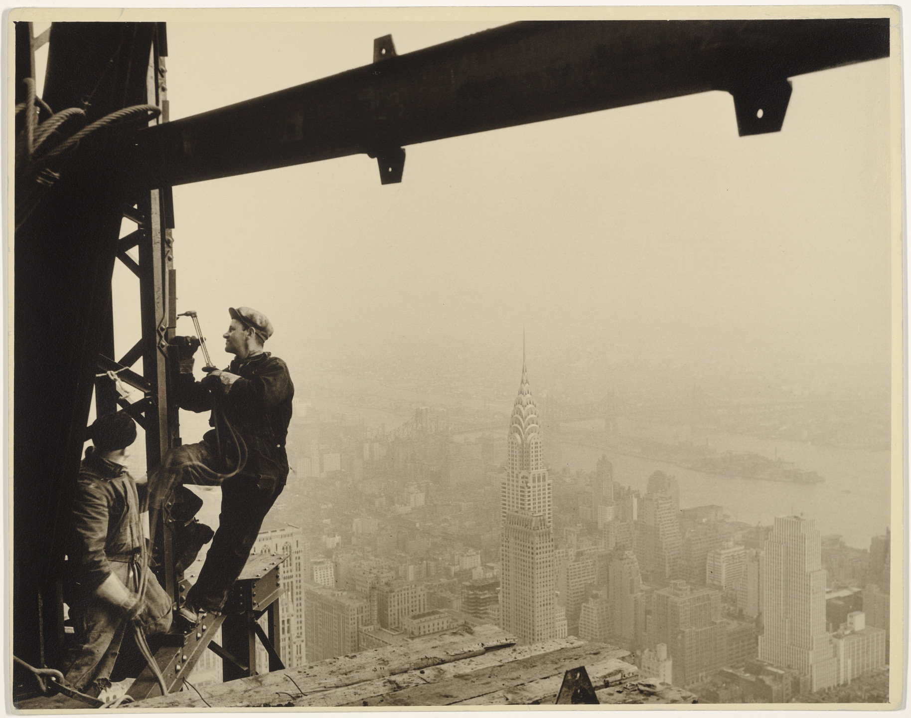 Lewis W. Hine. Welders on the Empire State Building. c. 1930