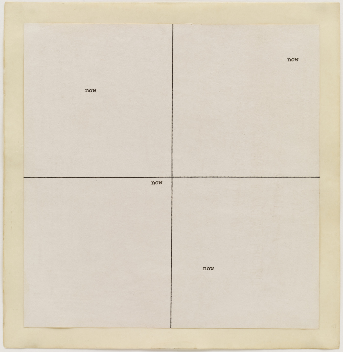 Carl Andre. now now. 1967