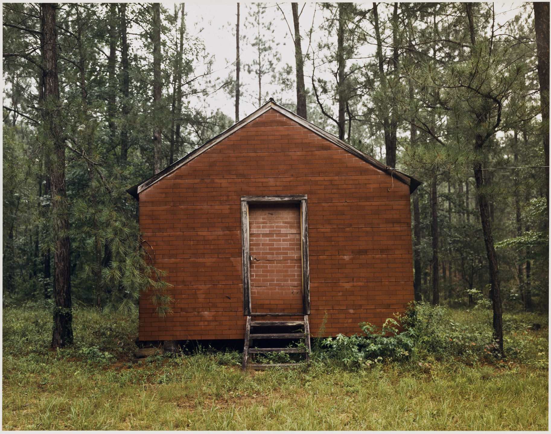 William Christenberry. Red Building in Forest, Hale County, Alabama. 1983