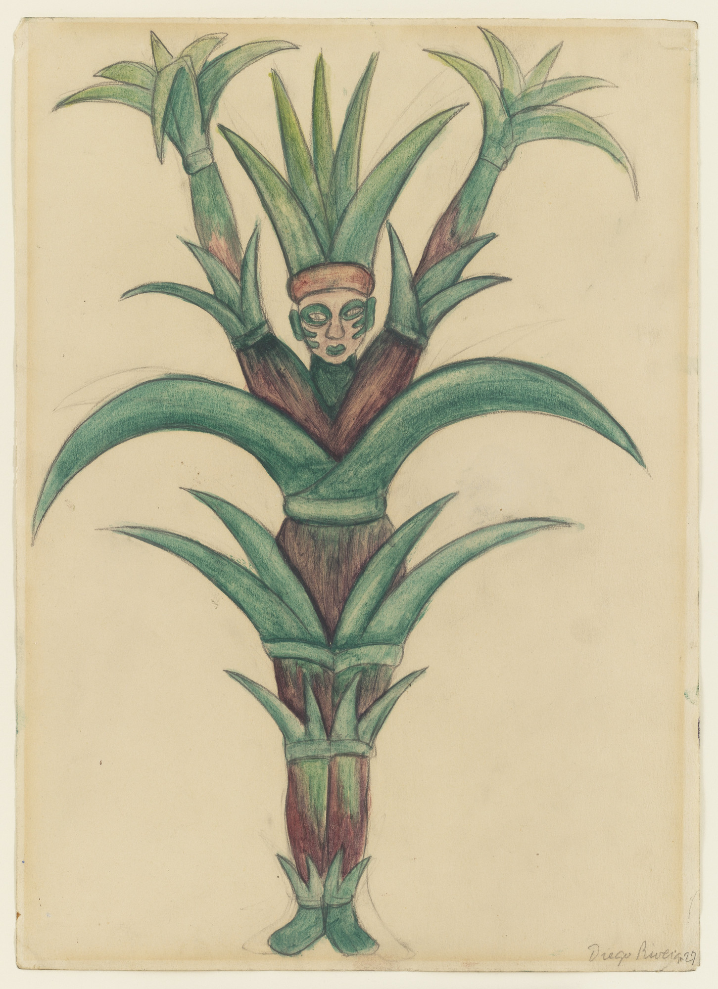 Diego Rivera. Sugar Cane, design for H.P. (Horsepower). 1927