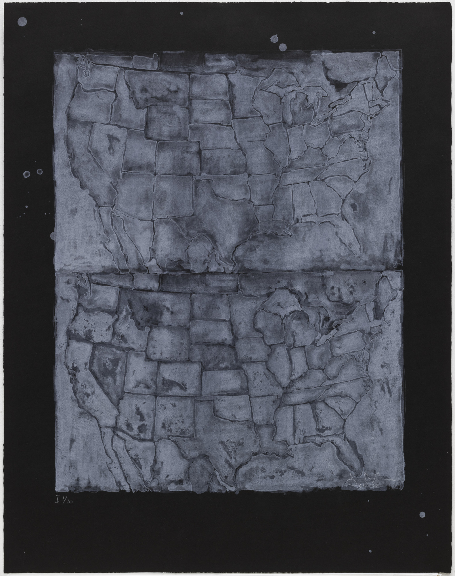 Jasper Johns. Two Maps I. 1966