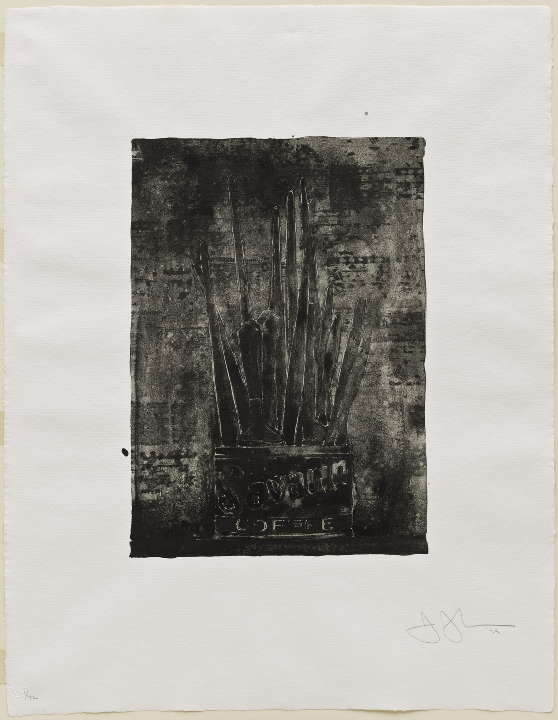 Jasper Johns. Savarin 1 (Cookie). 1978