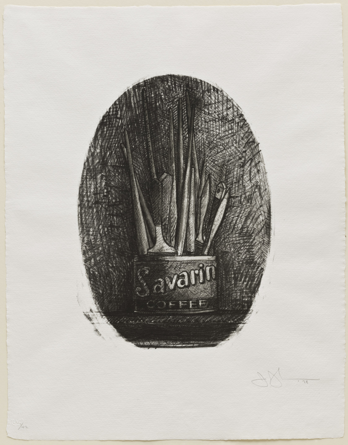 Jasper Johns. Savarin 4 (Oval). 1978