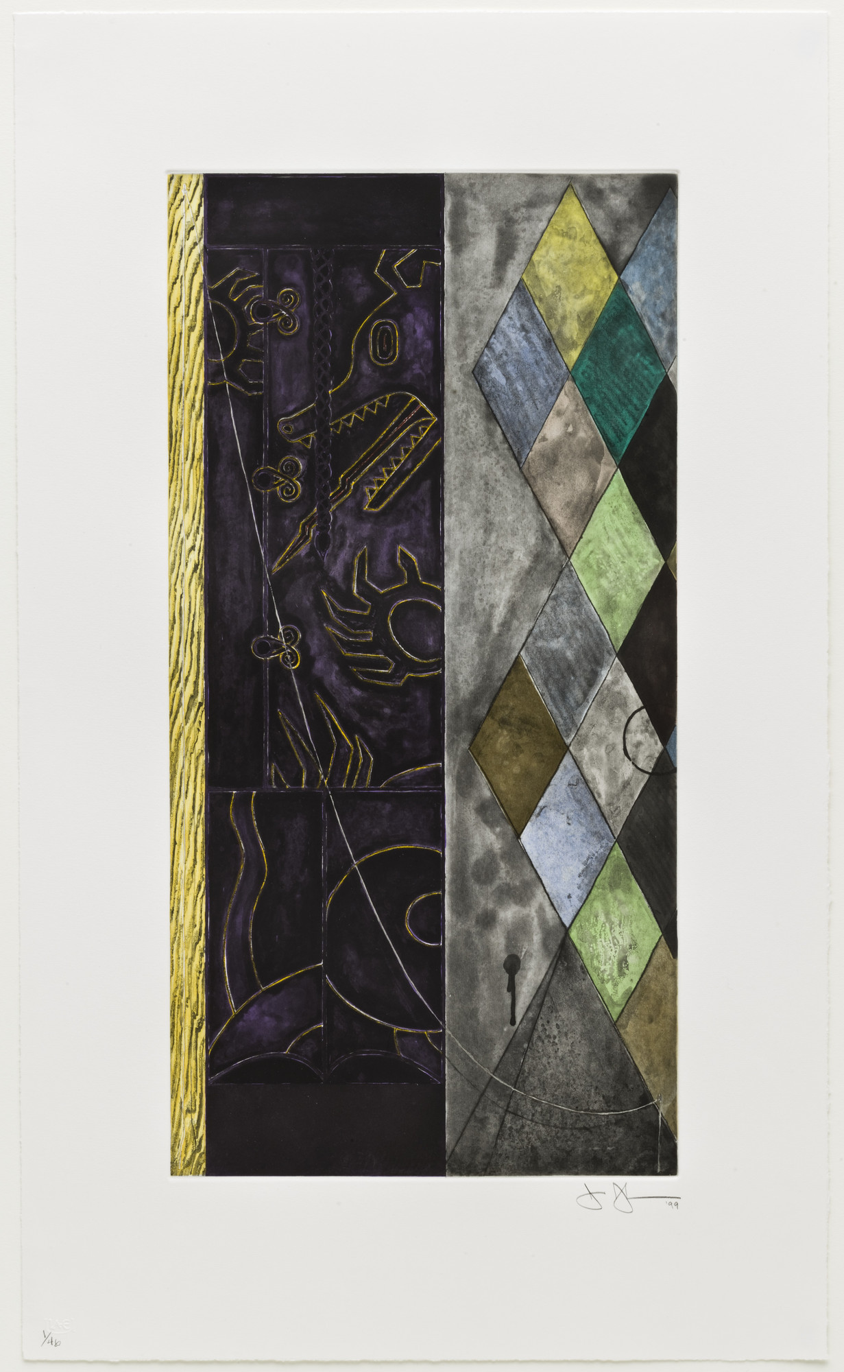 Jasper Johns. Untitled. 1999