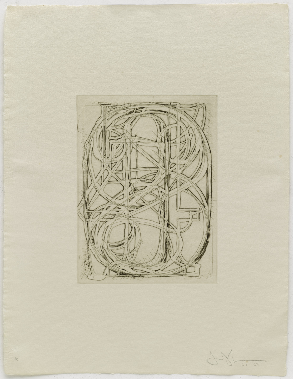 Jasper Johns. Numbers from 1st Etchings-2nd State. 1967–69, published 1969