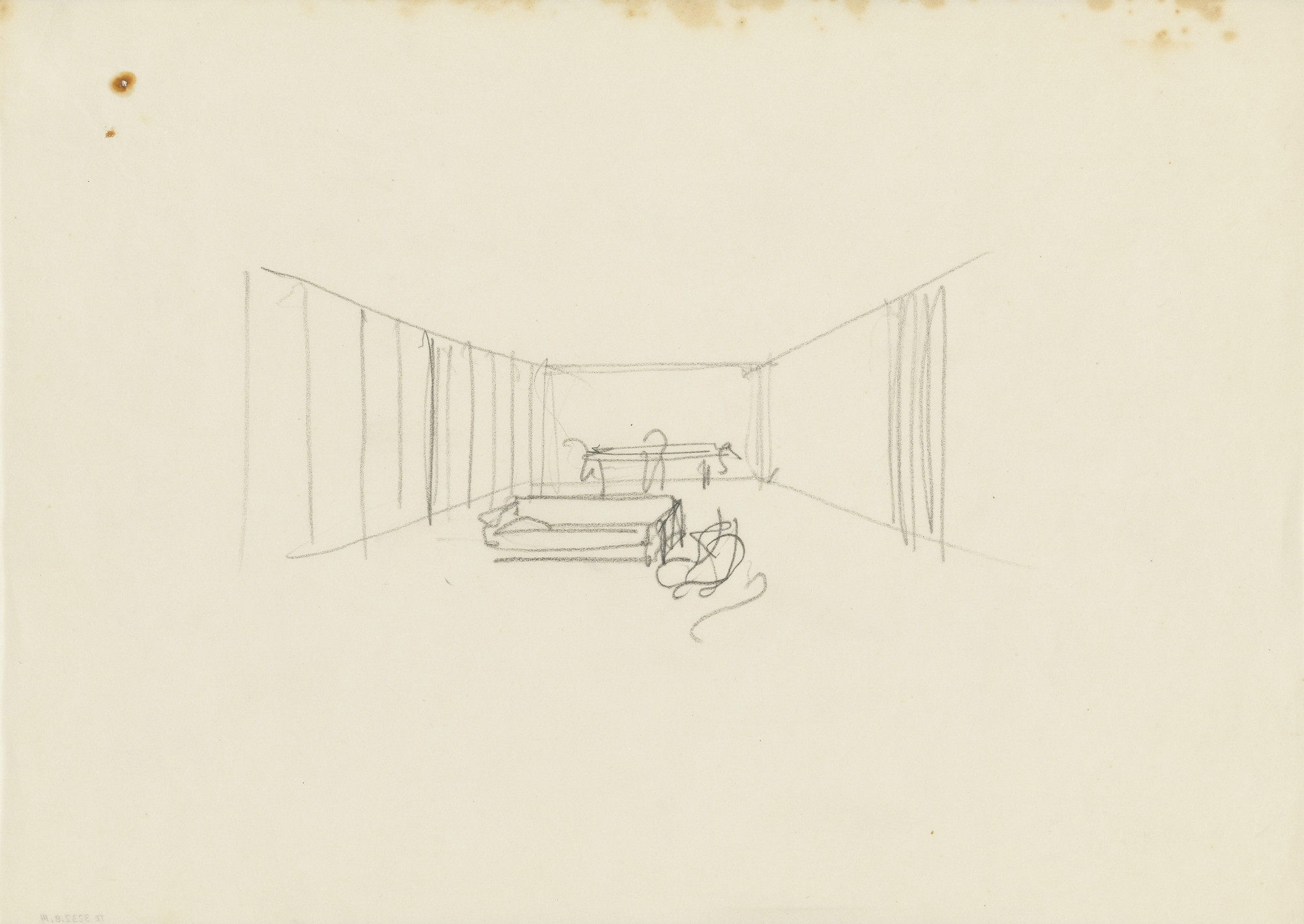Ludwig Mies van der Rohe. Lemke House, Berlin, Germany, Interior perspective. 1932-1933