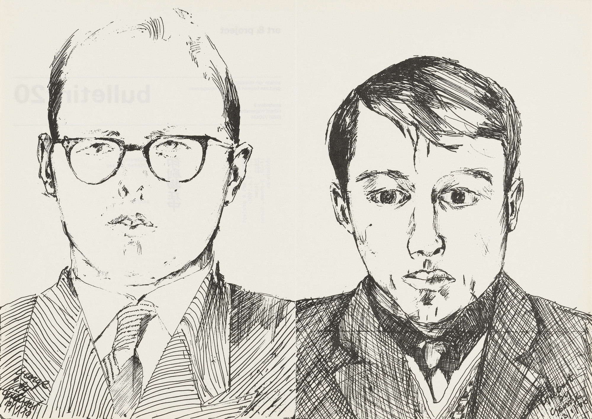 Gilbert & George, Gilbert Proesch, George Passmore. Art & Project Bulletin #20. 1970