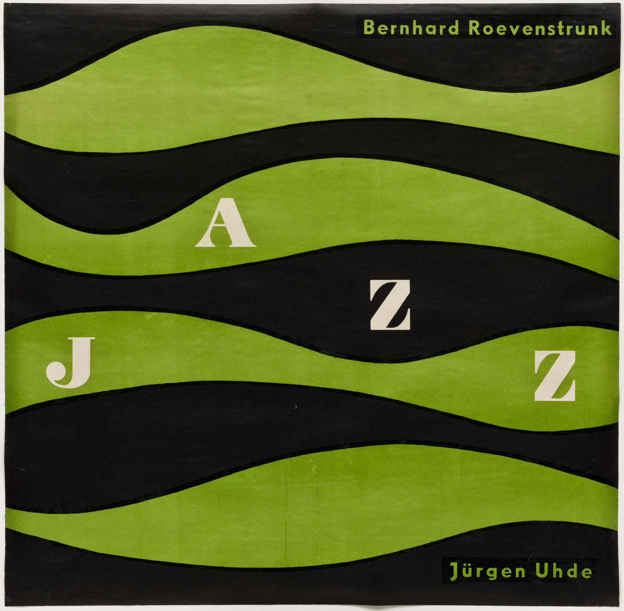 Otl Aicher (also known as Otto Aicher). Jazz. c. 1950