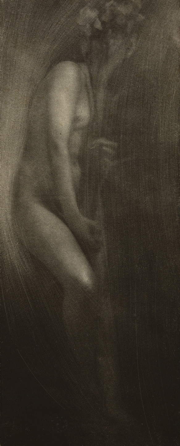Edward Steichen. Figure with Iris. 1902