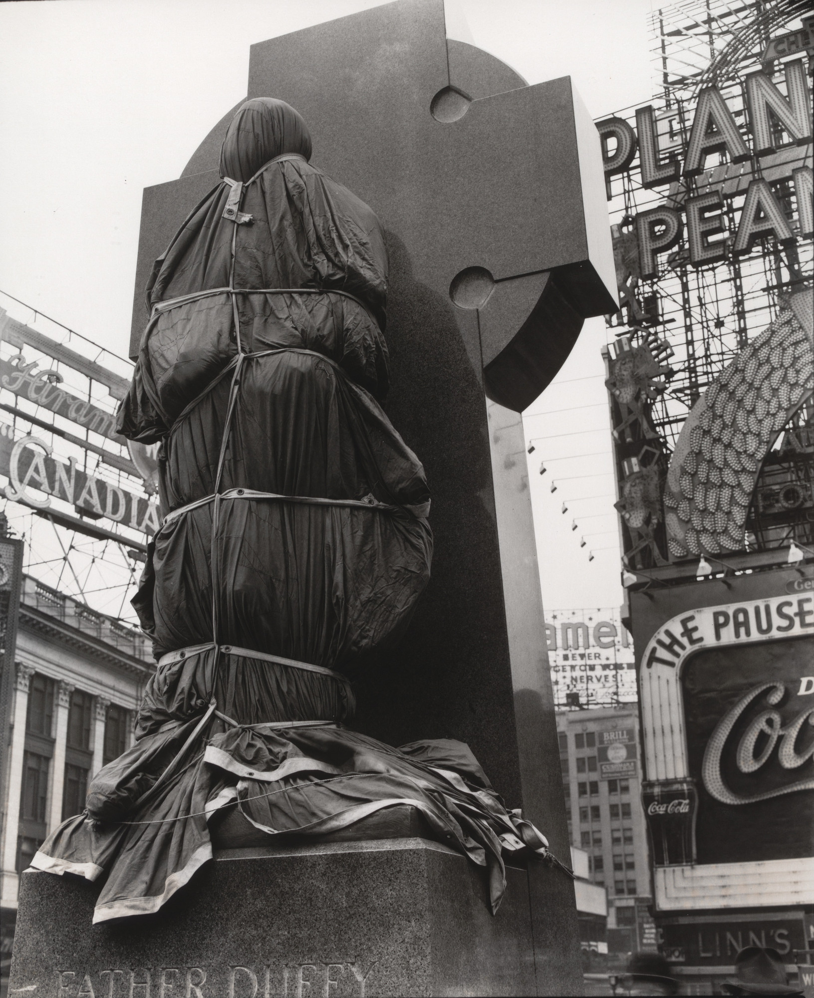 Berenice Abbott. Father Duffy, Times Square. April 14, 1937