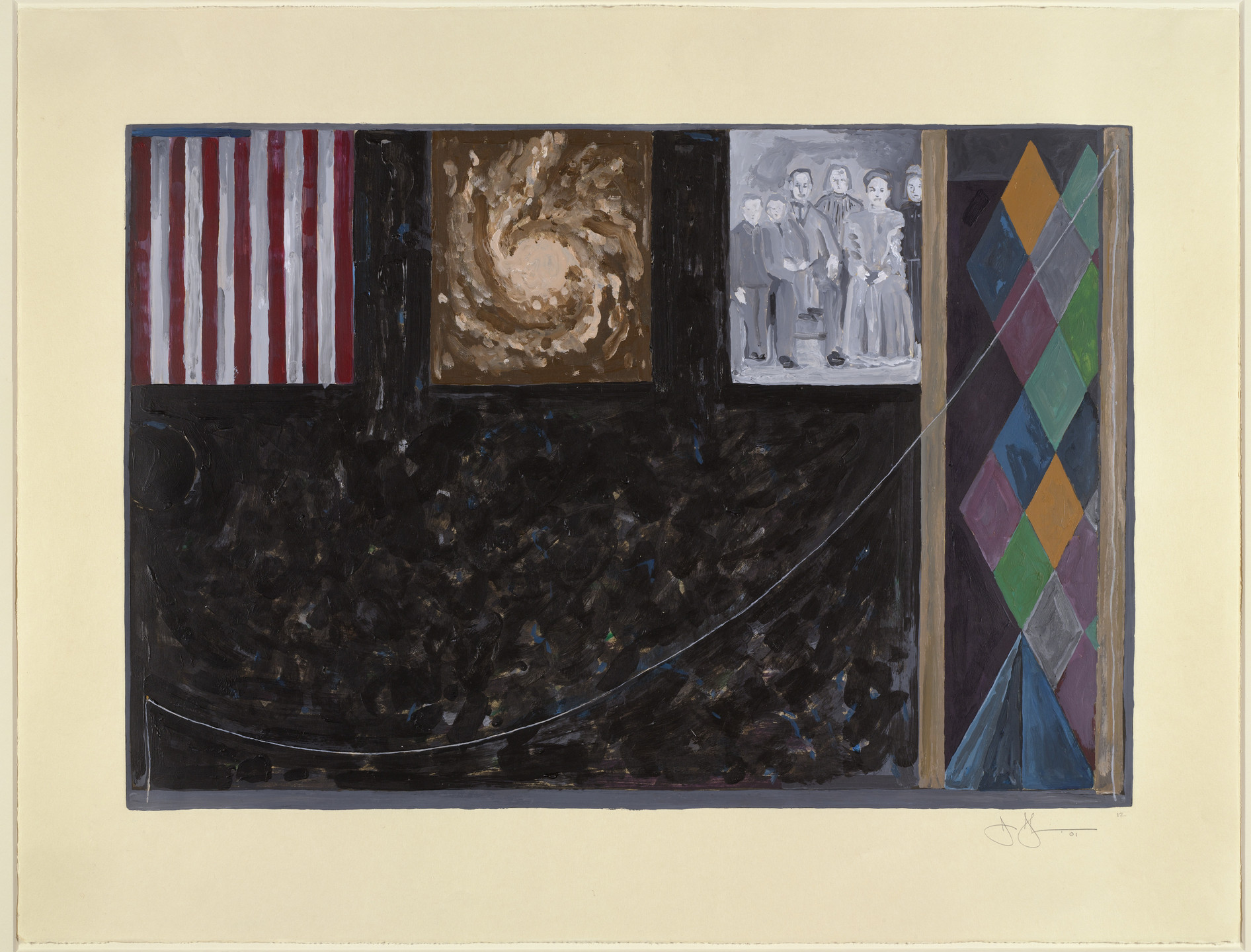 Jasper Johns. Untitled. 2001