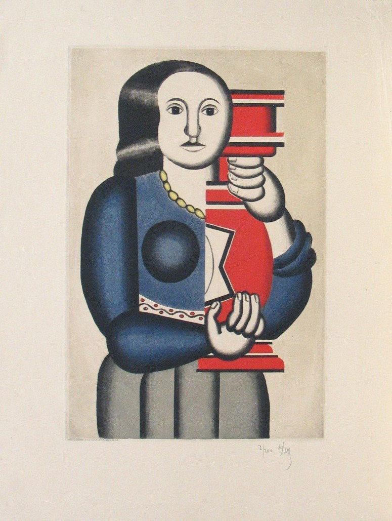 Jacques Villon, Fernand Léger. Woman with Jar (La Femme a la cruche), after Fernand Léger. 1928