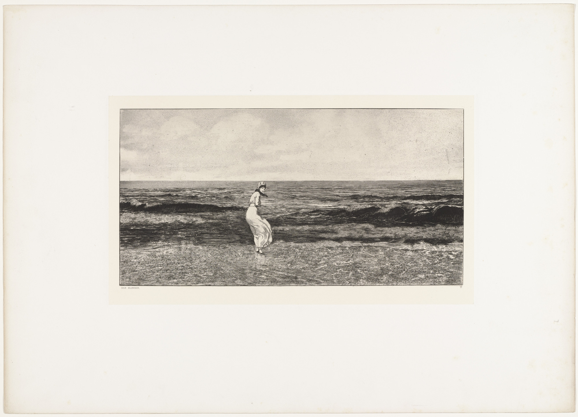 Max Klinger. By the Sea (Am Meer) (plate II) from Intermezzos, Opus IV (Intermezzi, Opus IV). (first published 1881)