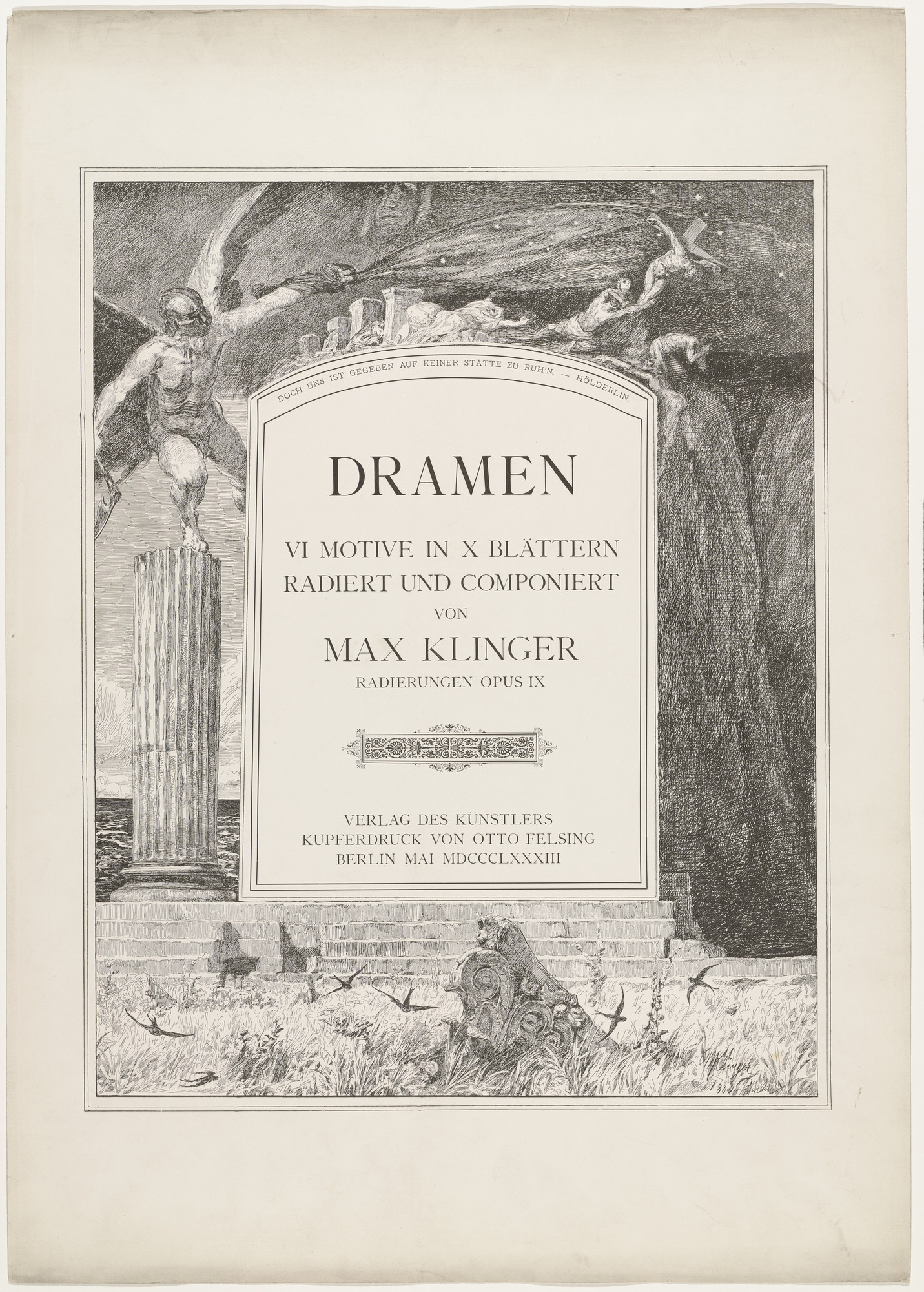 Max Klinger. Dramas, Opus IX (Dramen, Opus IX). first published 1883 (prints executed 1881-1883)