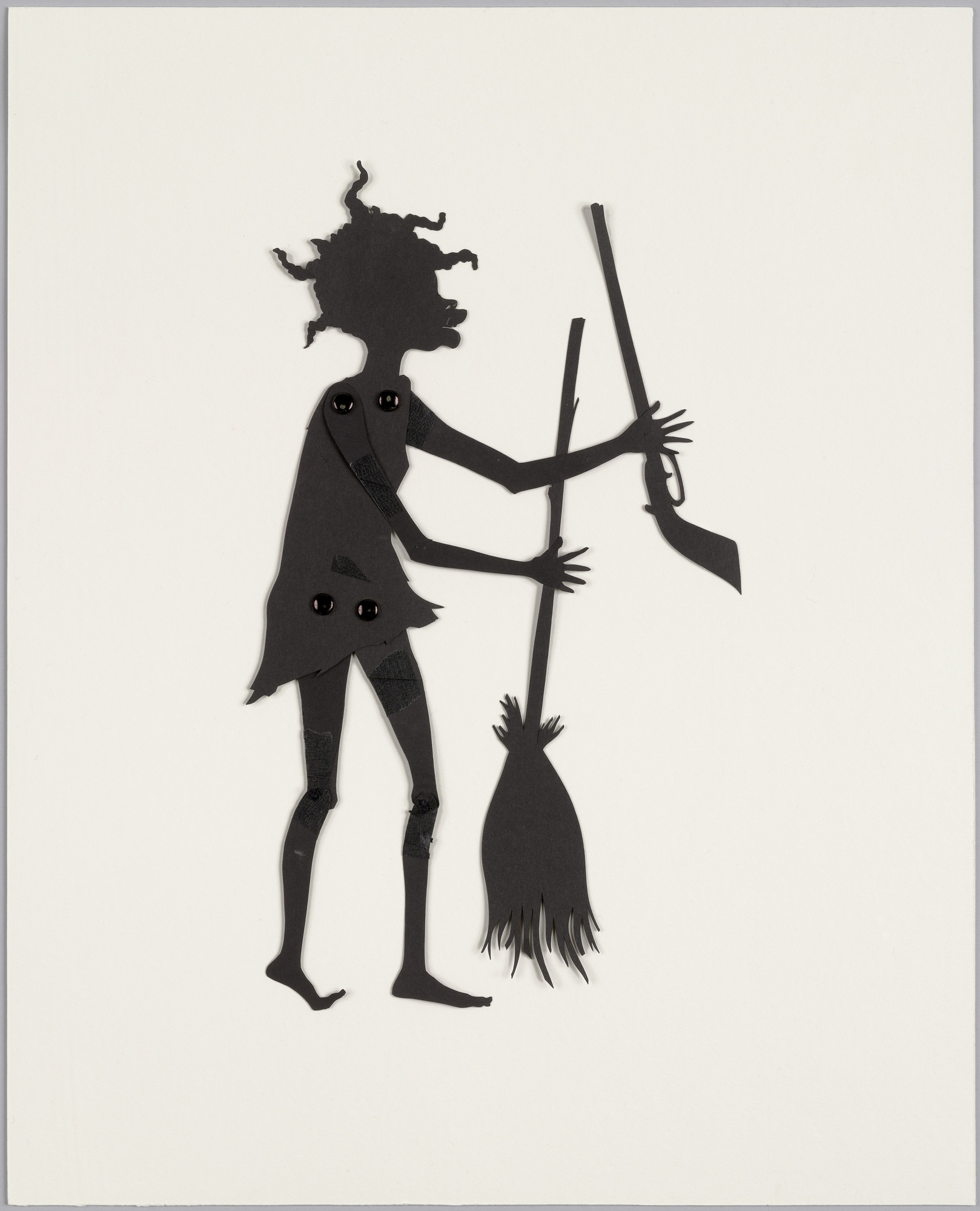 Kara Walker. Rebel Leader. Shadow puppet from Testimony: Narrative of a Negress Burdened by Good Intentions. 2004