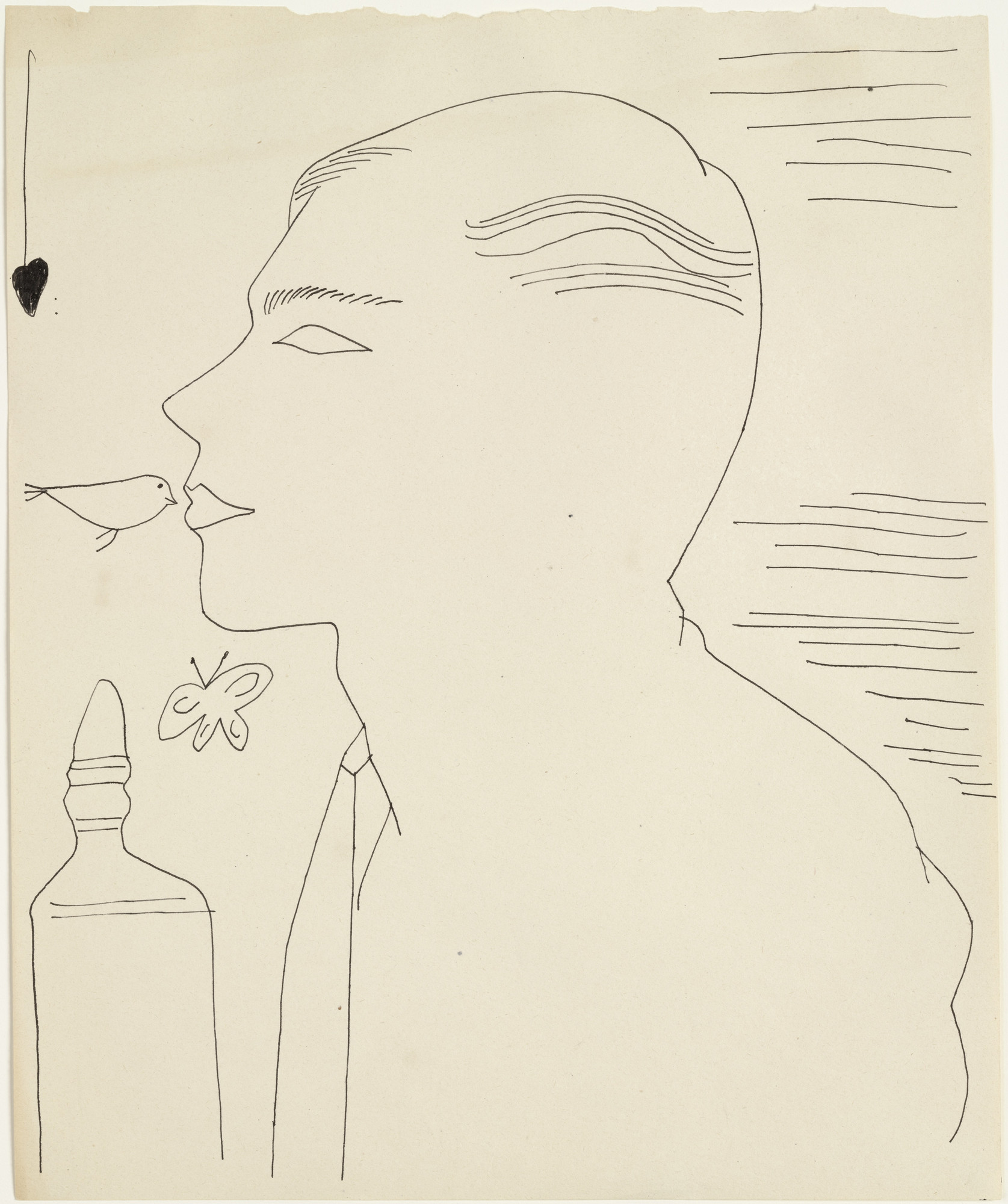 Andy Warhol. Untitled (Unidentified Male). (c. 1954)