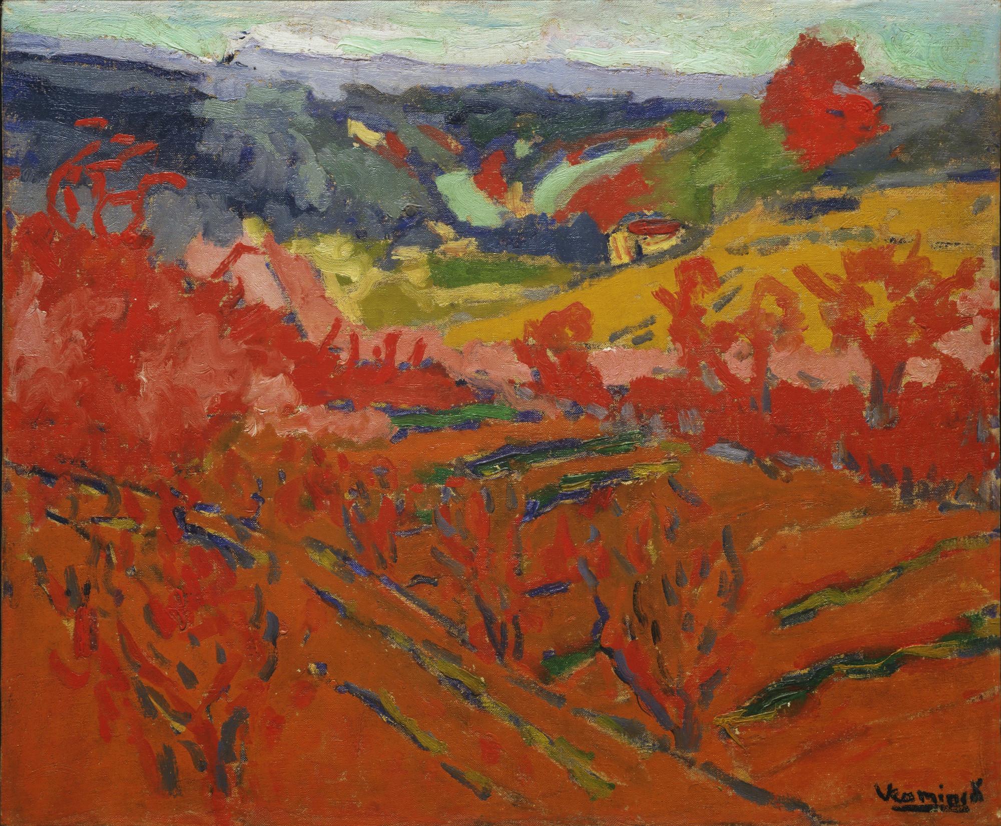 Maurice De Vlaminck Autumn Landscape C 1905 Moma