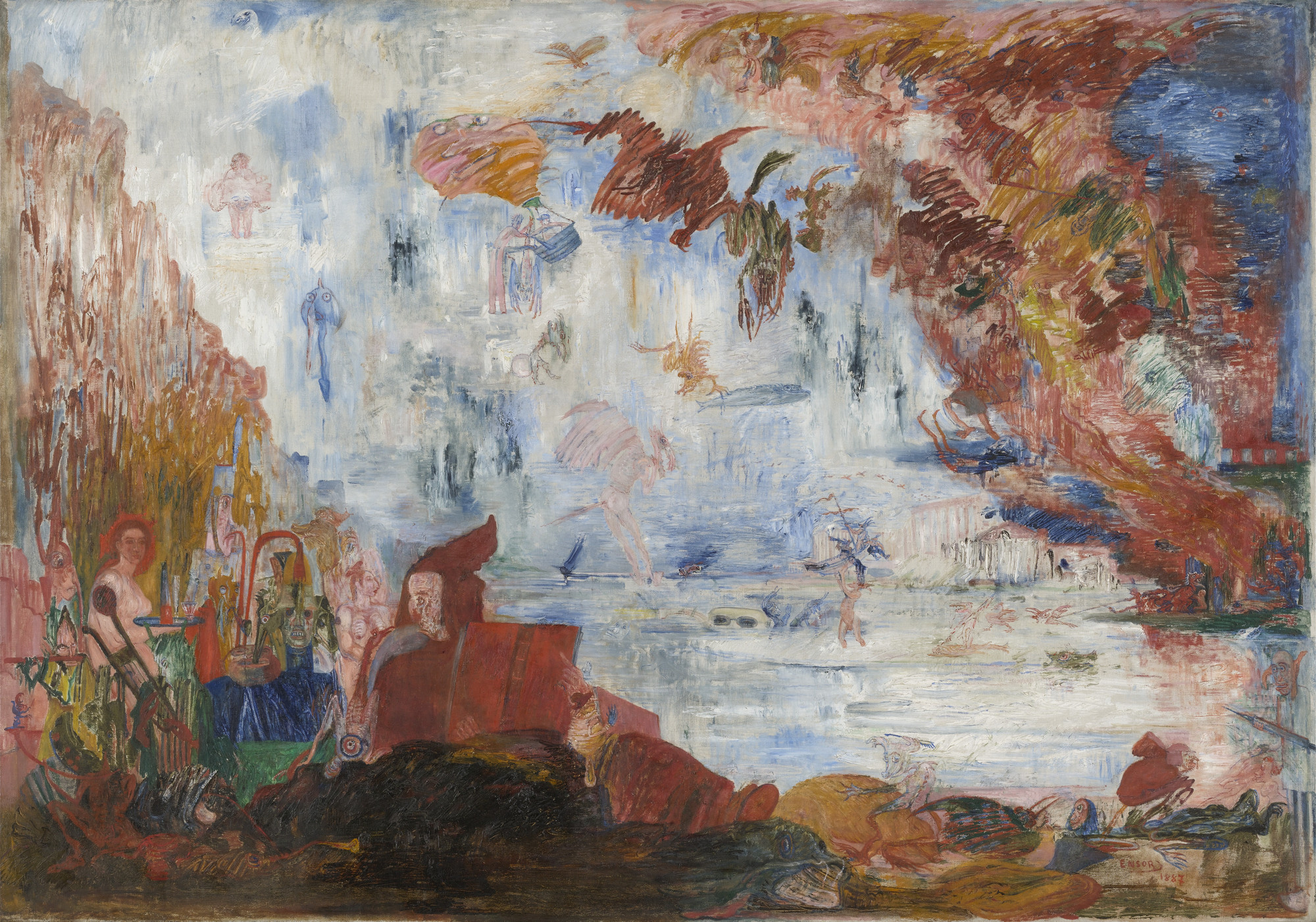 James Ensor. Tribulations of Saint Anthony. 1887