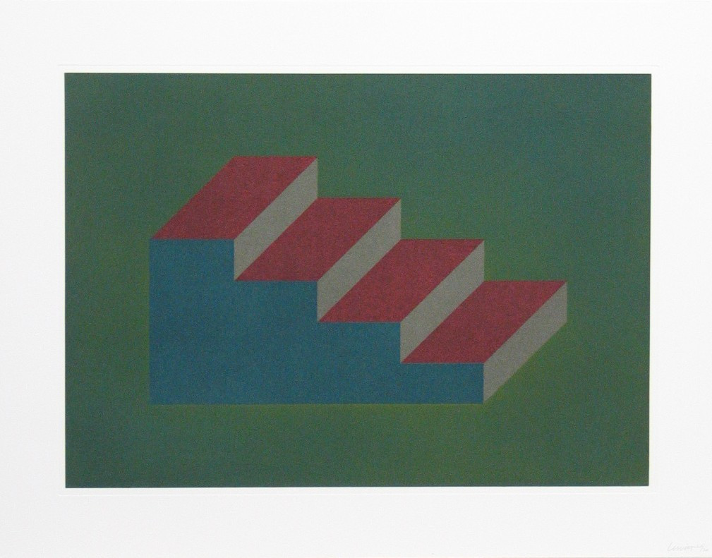 Sol LeWitt. Untitled, #6 from the series Forms Derived from a Rectangular Solid. (1990)