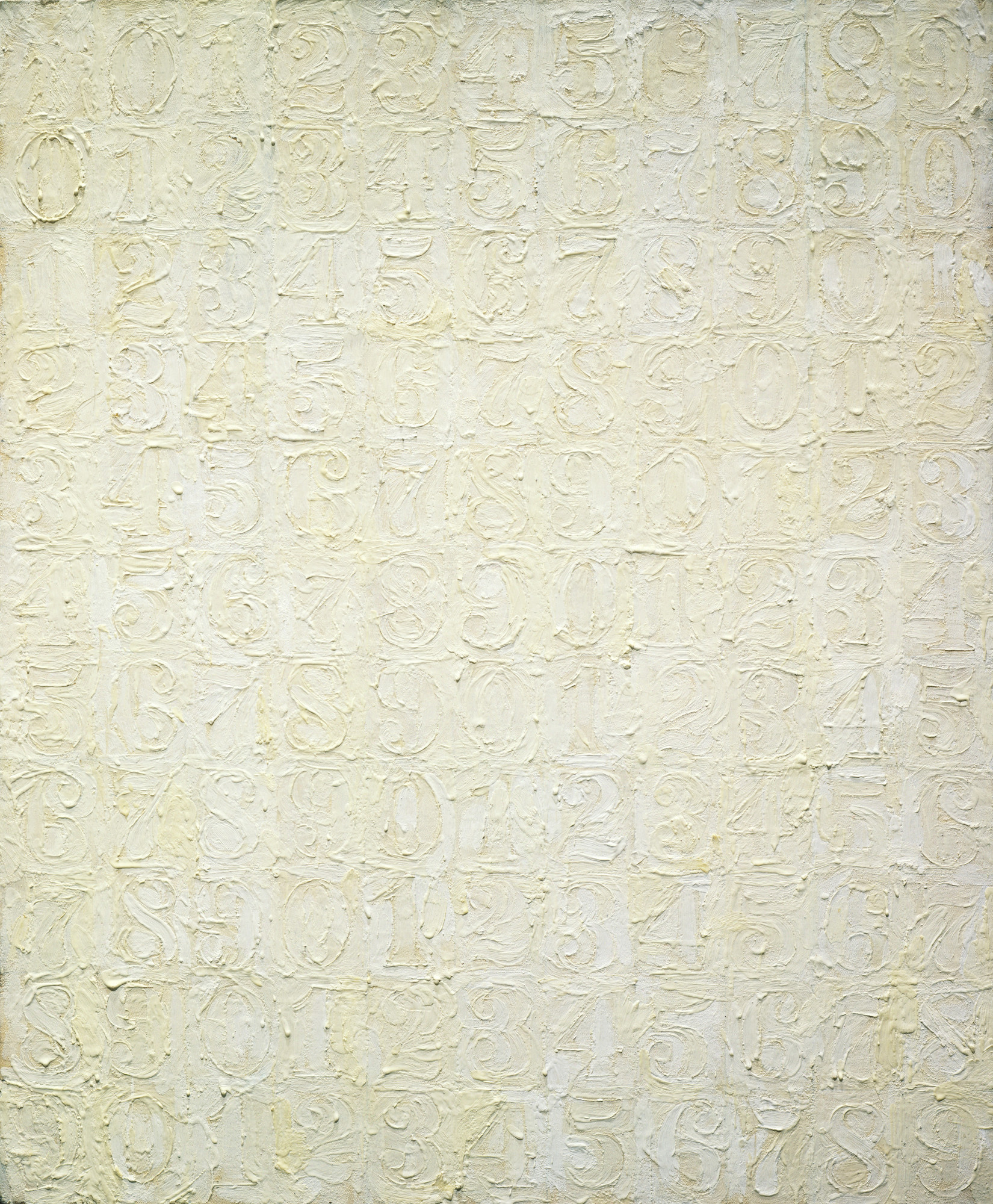Jasper Johns. White Numbers. July 29, 1957
