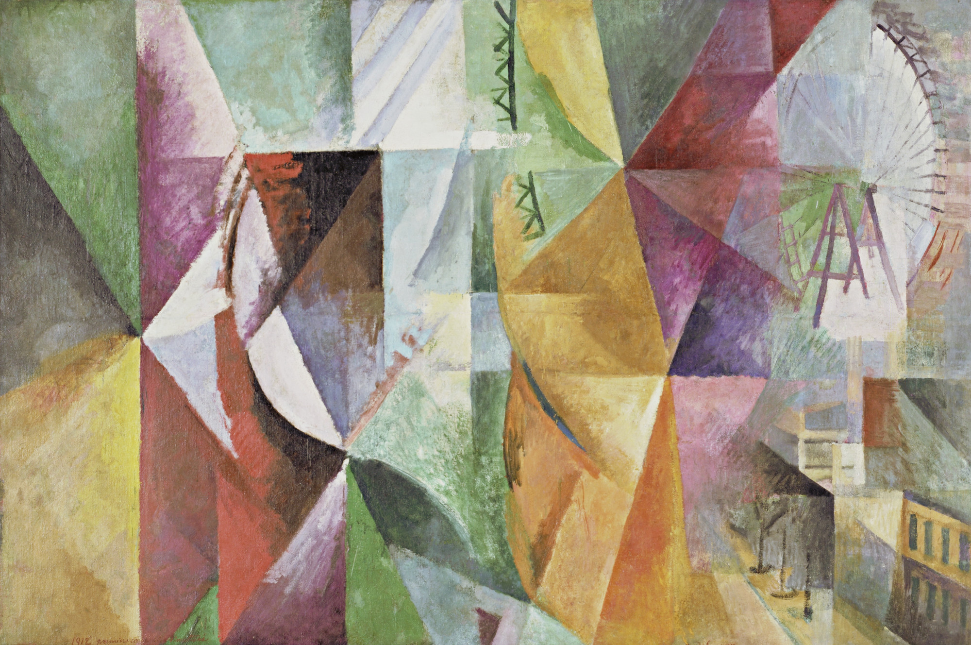 Robert Delaunay. The Three Windows, the Tower and the Wheel. 1912