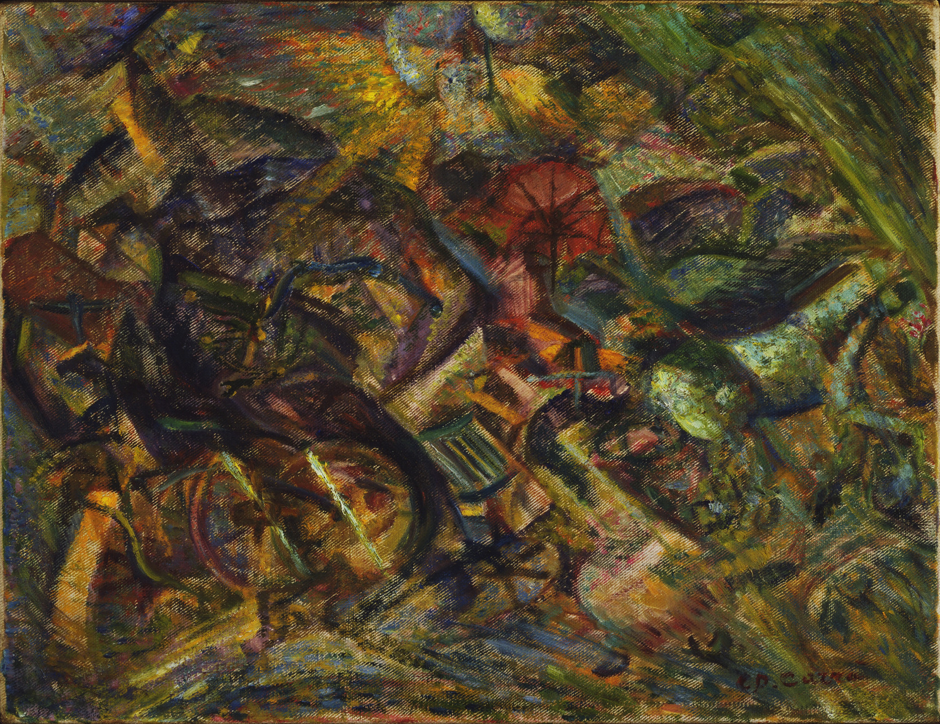 Carlo Carrà. Jolts of a Cab. 1911