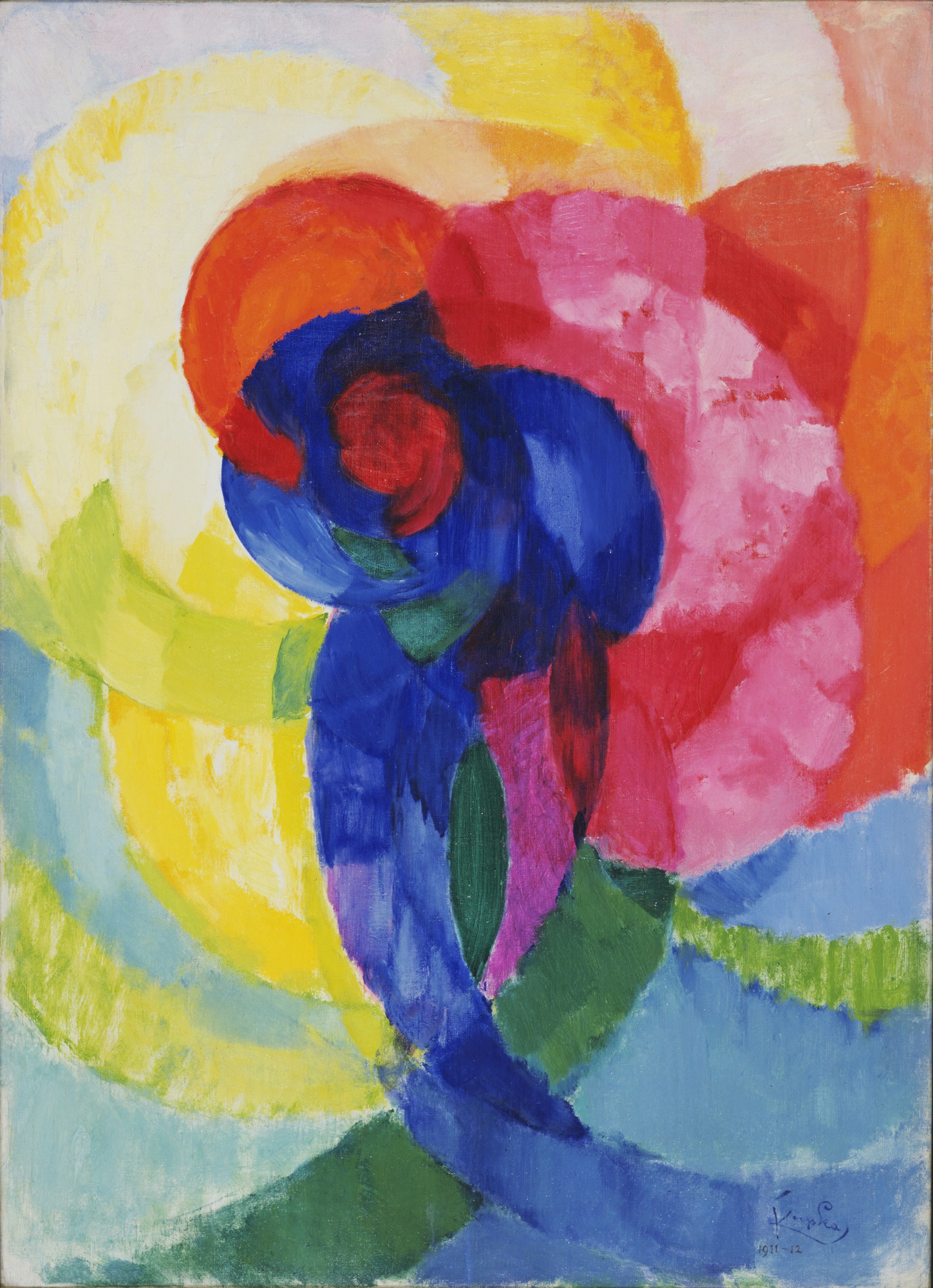 František Kupka. Red and Blue Disks. 1911? (dated on painting 1911-12)