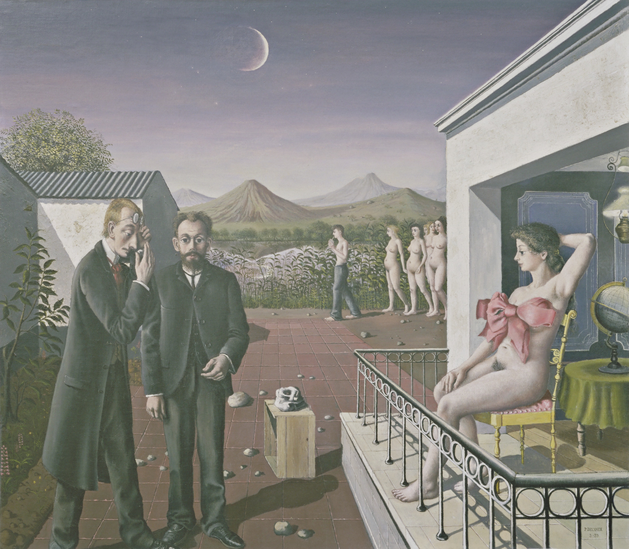 Paul Delvaux. Phases of the Moon. March 1939