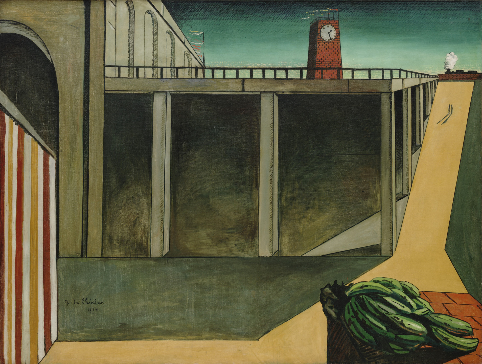 Giorgio de Chirico. Gare Montparnasse (The Melancholy of Departure). Paris, early 1914